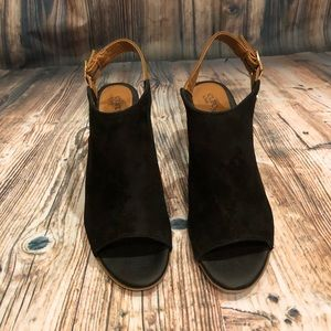 Euro Soft by Sofft Black Suede Shoes Size 7.5